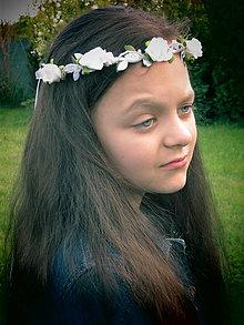 Ozdoby do vlasov - Jemný venček na sväté prijímanie, pre družičku - 10739830_