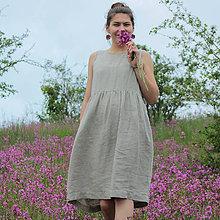 Šaty - Ľanové šaty Rodana - 10739936_