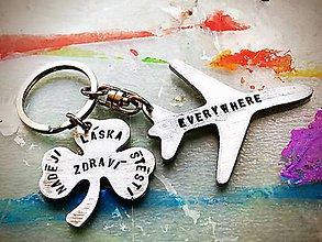 Kľúčenky - Aeropláááán :) čisto len lietadlo s mini textom - 10739822_