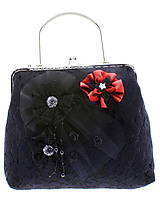 Kabelky - dámská kabelka Spoločenská čipková kabelka čierná jj7 (Tyrkysová) - 10740852_