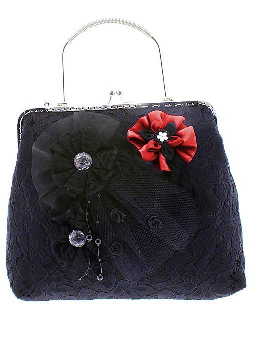 dámská kabelka Spoločenská čipková kabelka čierná jj7 (Tyrkysová)