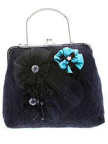 Kabelky - dámská kabelka Spoločenská čipková kabelka čierná jj3 - 10740765_