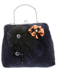 Kabelky - dámská kabelka Spoločenská čipková kabelka čierná jj4 - 10740791_