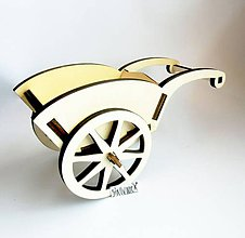 Polotovary - Vozík z preglejky, 25x13 cm - 10739915_