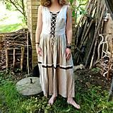 Šaty - Šaty ľanové- zľava zo 45,50 - 10741580_