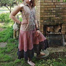 Šaty - Retrošky drobnokvietočkové - 10741501_