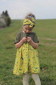 Detské oblečenie - Dievčenske Šaty Herbs - 10740356_