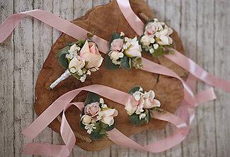 Náramky - Kvetinový náramok pre družičky - 10741862_
