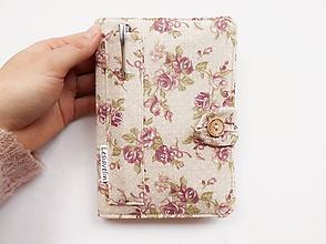 Papiernictvo - Zápisník A6 - Romantické ruže - 10741850_