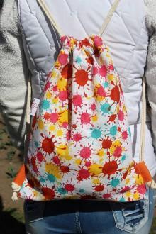 Batohy - Usmej sa na mňa: Trendový batoh (Farebná machuľa) - 10740690_