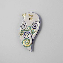 Odznaky/Brošne - Tana šperky - keramika/zlato - 10741466_