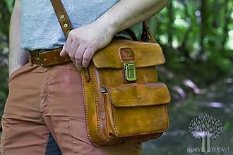 Tašky - Pánska kožená kapsa - 10740803_