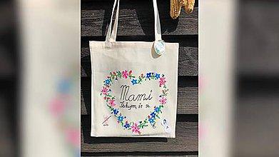 Nákupné tašky - ♥ Plátená, ručne maľovaná taška ♥ - 10740447_