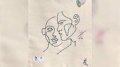 Iné tašky - ♥ Plátená, ručne ručne vyšívaná taška ♥ (XY2) - 10740457_