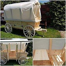 Nábytok - Drevený voz na pivo pre 4 osoby )) - 10740568_