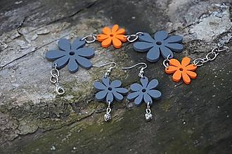 Sady šperkov - Kvetinková súprava (Fialová) - 10741479_