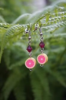 Náušnice - Náušnice - Ružový grep - 10741605_