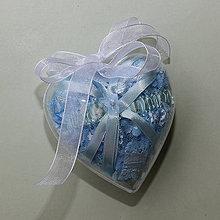 Bielizeň/Plavky - Modrý čipkovaný podväzok v darčekovom balení - 10741023_
