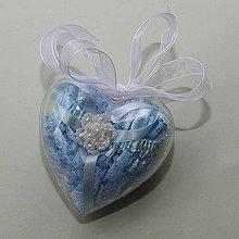 Bielizeň/Plavky - Modrý čipkovaný podväzok s perleťovým kvietkom v darčekovom balení - 10741054_