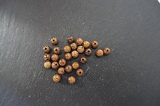 Korálky - Drevená korálka 6-M18-H1 - 10740074_