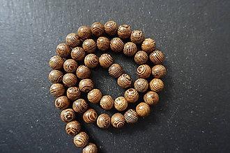 Korálky - Santálové drevo 10-M19 (3) - 10740133_