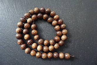 Korálky - Santálové drevo 8-M19 (1) - 10740155_