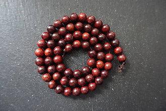 Korálky - Santálové drevo 6-M19 (2) - 10740190_