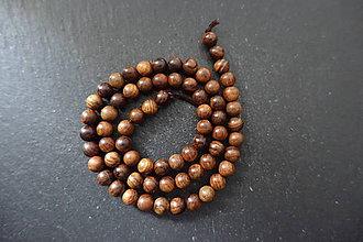 Korálky - Santálové drevo 6-M19 (4) - 10740205_
