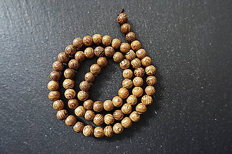 Korálky - Drevená korálka 6-8-M19-4 - 10740247_