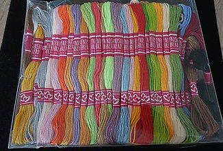 Galantéria - Nite farebné 1mm - 10740302_