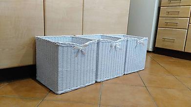 Košíky - Veľké biele koše - 10741625_
