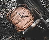 Hodiny - Artefakt 6 - Teakové drevené hodiny - 10741701_