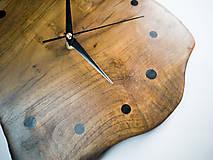 Hodiny - RAW Resin 3 - Teakové drevené hodiny - 10741714_