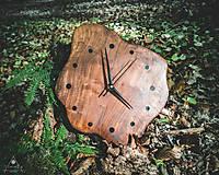 Hodiny - RAW Resin 3 - Teakové drevené hodiny - 10741715_