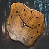 Hodiny - RAW Resin 3 - Teakové drevené hodiny - 10741717_