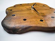 Hodiny - RAW Resin 3 - Teakové drevené hodiny - 10741718_