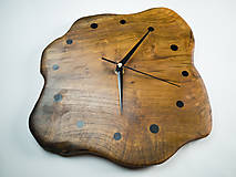 Hodiny - RAW Resin 3 - Teakové drevené hodiny - 10741719_