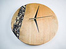 Hodiny - Onyx - Topoľové drevené hodiny - 10741753_