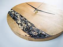 Hodiny - Onyx - Topoľové drevené hodiny - 10741766_