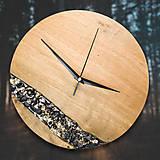 Hodiny - Onyx - Topoľové drevené hodiny - 10741767_
