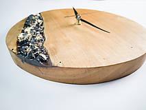 Hodiny - Onyx - Topoľové drevené hodiny - 10741768_