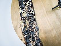 Hodiny - Onyx - Topoľové drevené hodiny - 10741769_