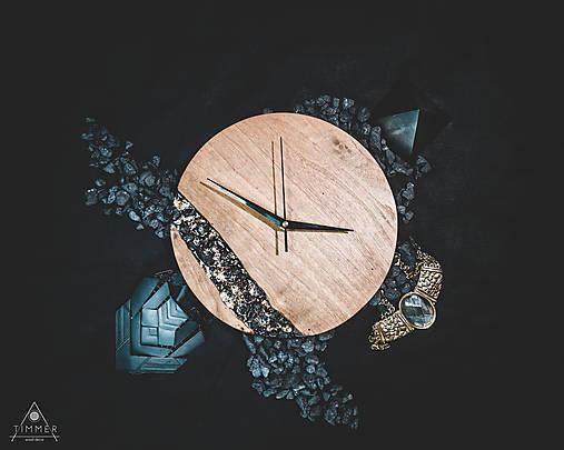Onyx - Topoľové drevené hodiny