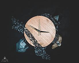 Hodiny - Onyx - Topoľové drevené hodiny - 10741756_