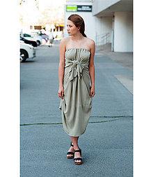 Šaty - Šedozelené 4 šaty v 1 sukni - 10741846_