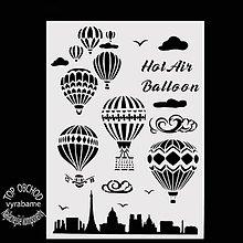 Pomôcky/Nástroje - Šablóna väčšia, balóny , šablónka , vzor, predloha, mustra - 10741229_