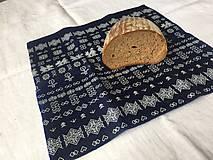Úžitkový textil - Voskovaný obrúsok Modrotlač - EkObal - 10741528_