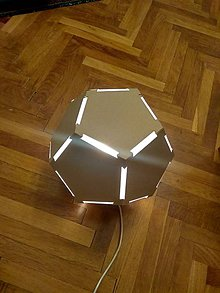 Svietidlá a sviečky - Dodekahedron - 10741817_