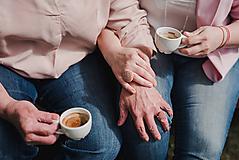Prstene - BUTTON prstene pre Mamu a Dcéru (Ružová) - 10739735_