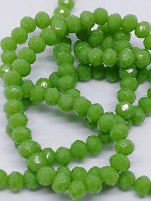 Korálky - Rondelkové korálky - 4 mm (Zelená) - 10740286_